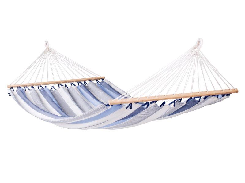 Hamak z drążkiem Alisio, niebiesko-biały ALR16