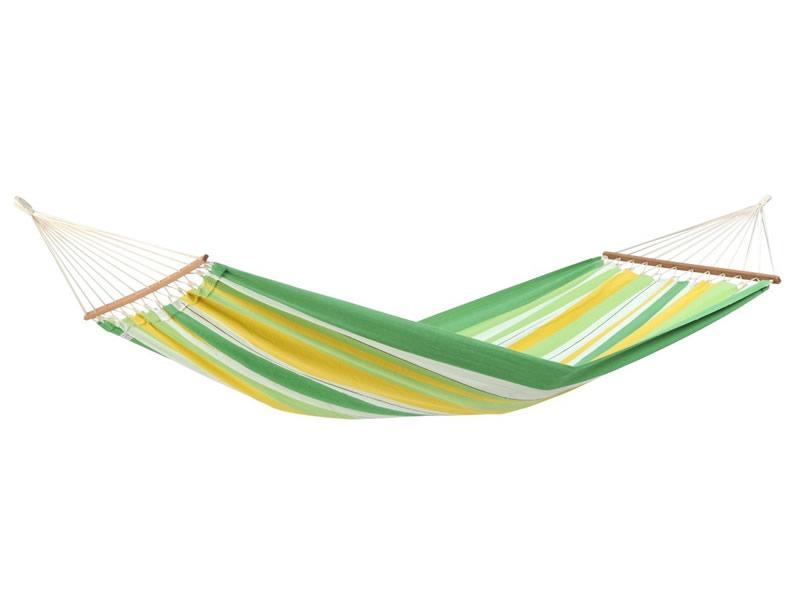 Hamak z drążkiem, zielono-żółty Brasilia
