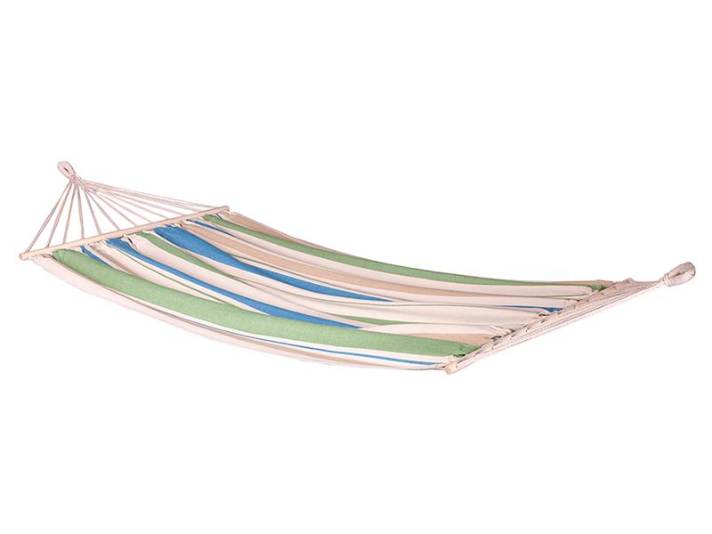 Hamak jednoosobowy z drążkiem Chillounge, niebiesko-zielony CH-R30