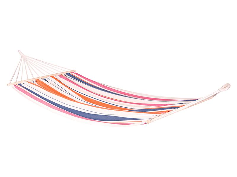 Hamak jednoosobowy z drążkiem Chillounge, pomarańczowo-niebieski CH-R30