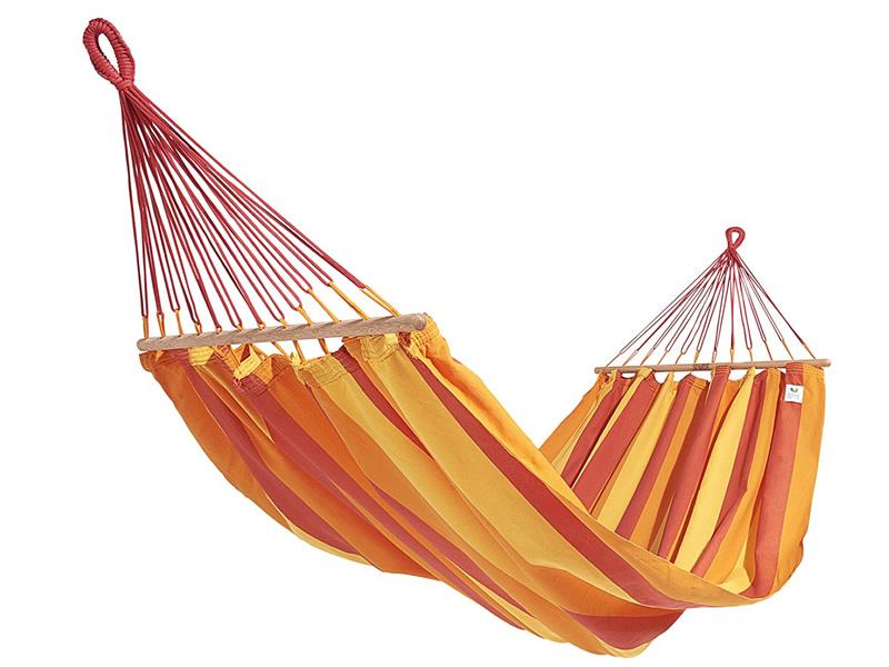 Hamak z drążkiem, czerwono-pomarańczowy GRAPHIK