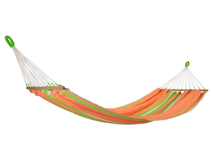 Hamak z drążkiem, pomarańczowo-zielony GRAPHIK