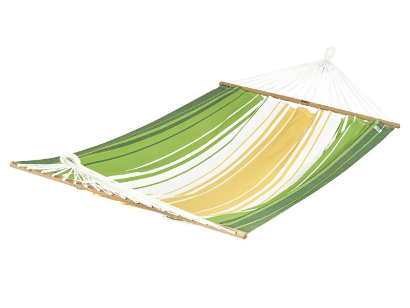 Hamak z drążkiem, zielono-żółty KOMPLICE