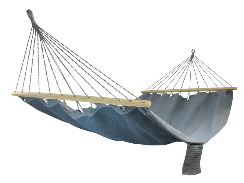 Hamak z drążkiem szeroki, morski HSL