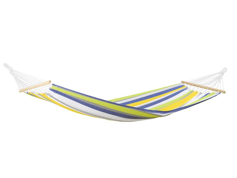 Hamak z drążkiem, żółto-niebieski Tonga