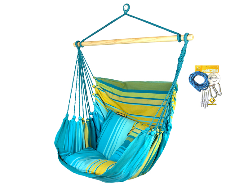 Hammock chair lounger HCXL with fixing set
