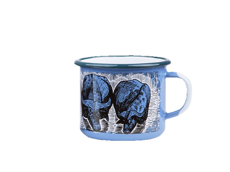 Kubek emaliowany, niebieski Buffalo