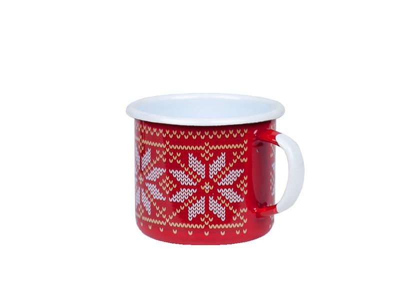 Kubek emaliowany, Czerwony Christmas