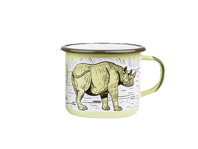 Kubek emaliowany, zielony Rhino