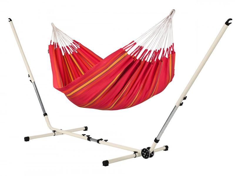 Hammock set: hammock Currambera with white stand Mediterraneo, CUH14MES12-1