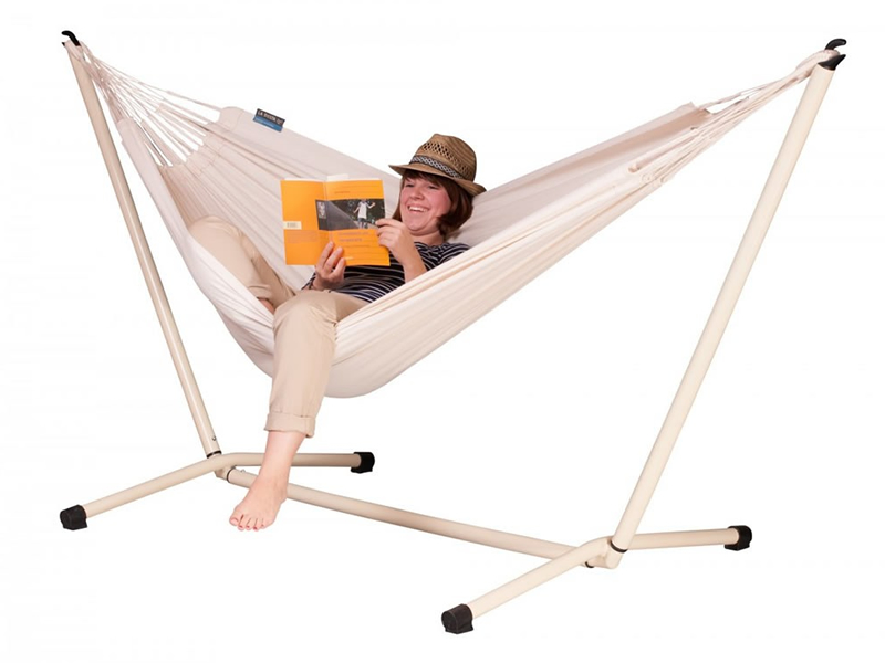 Hammock set: hammock Modesta with white stand Neptuno, MOH14NPS125