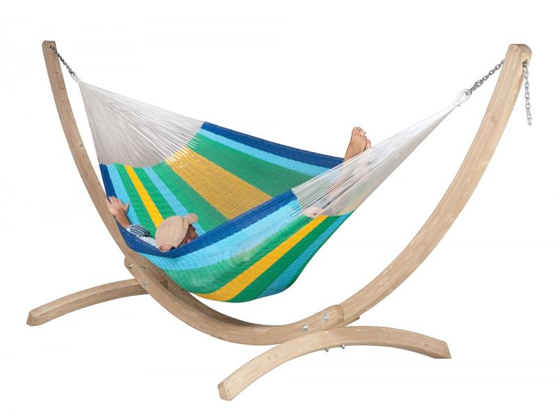 Hammock set: mesh hammock Mexicana with stand Canoa, MXH24CNS201