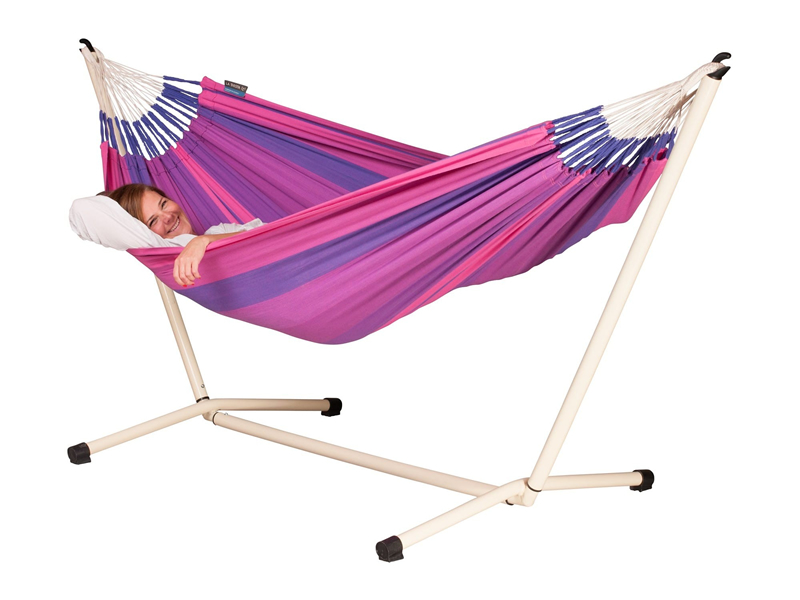 Hammock set: hammock Orquidea with stand Neptuno, ORH14NPS125