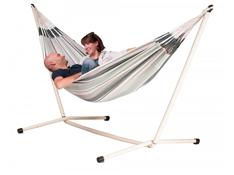 Hammock set: hammock Paloma with white stand Neptuno, PAH16NPS165