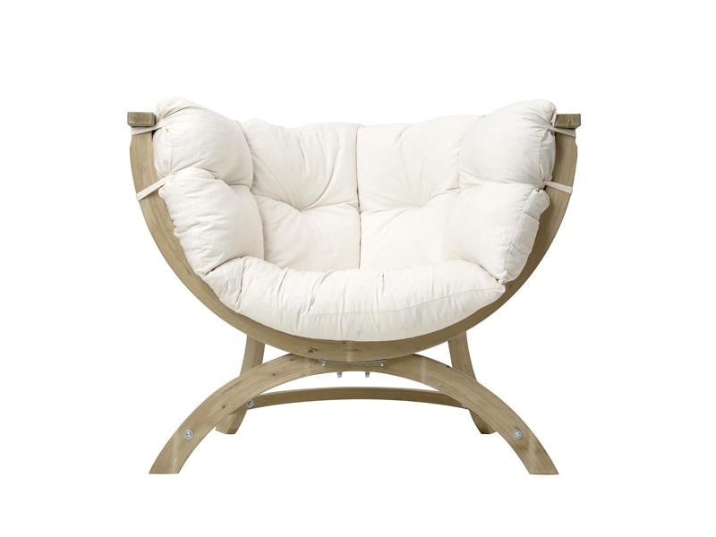 Fotel drewniany, ecru Siena Uno natura
