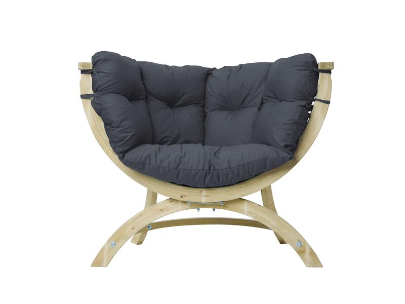 Fotel drewniany, szaro-czarny Siena Uno weatherproof
