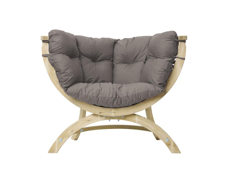 Fotel drewniany, Szary Siena Uno weatherproof