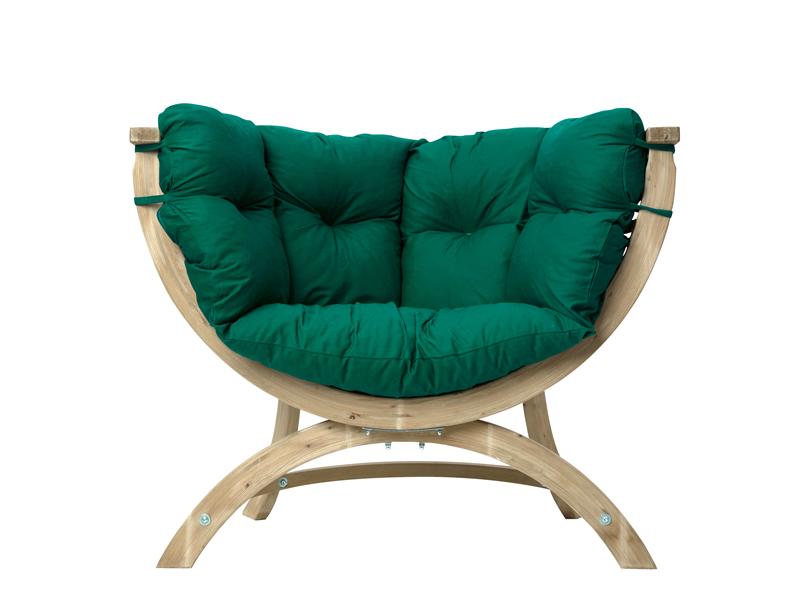Fotel drewniany, Zielony Siena Uno weatherproof