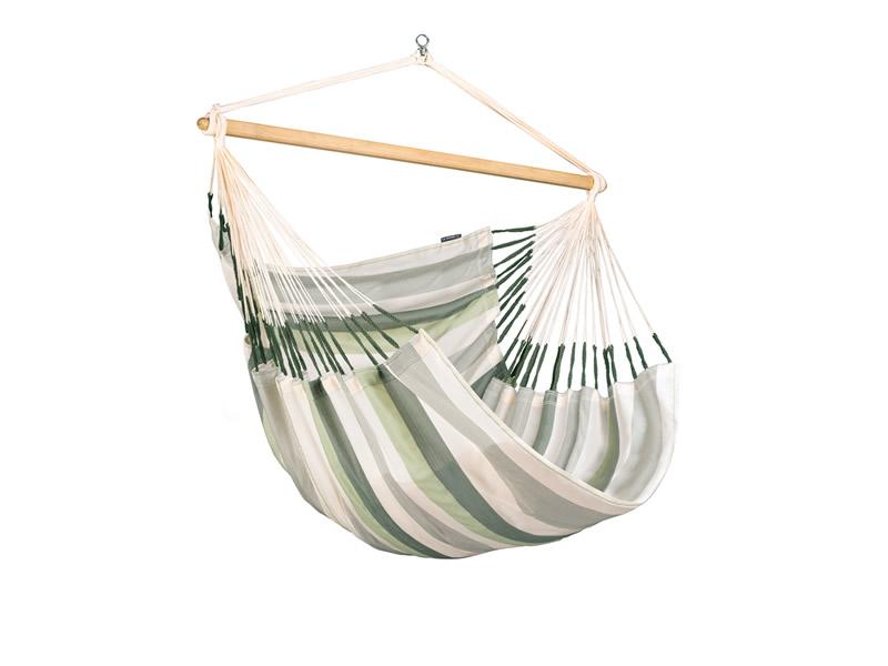 Leżak hamakowy Domingo L210, biało-zielony DOL21