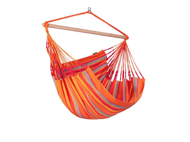 Leżak hamakowy Domingo L210, czerwono-pomarańczowy DOL21