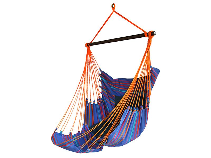 Fotel hamakowy z podstawką, Niebieski / turkusowy HC-FR