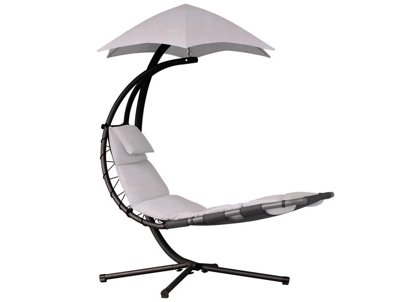 Fotel hamakowy, srebrny DREAM