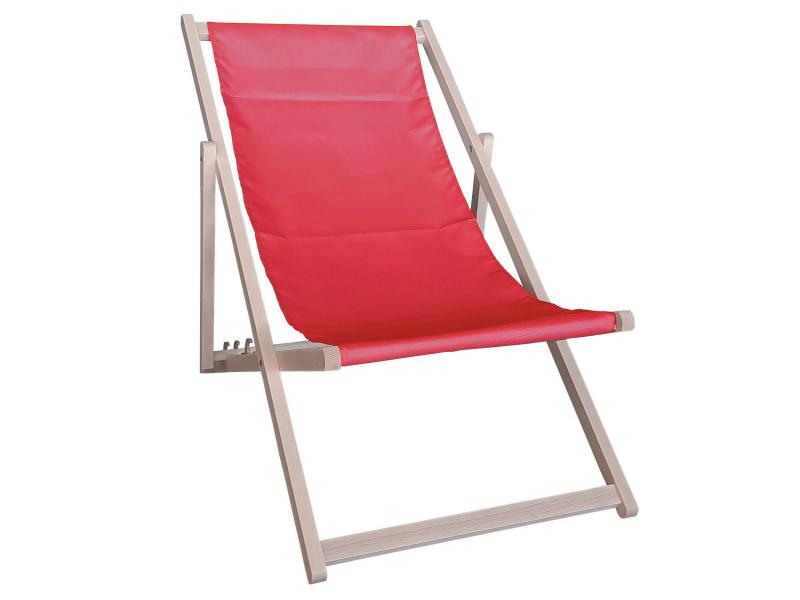 Drewniany leżak, Czerwony Swing Sunbed
