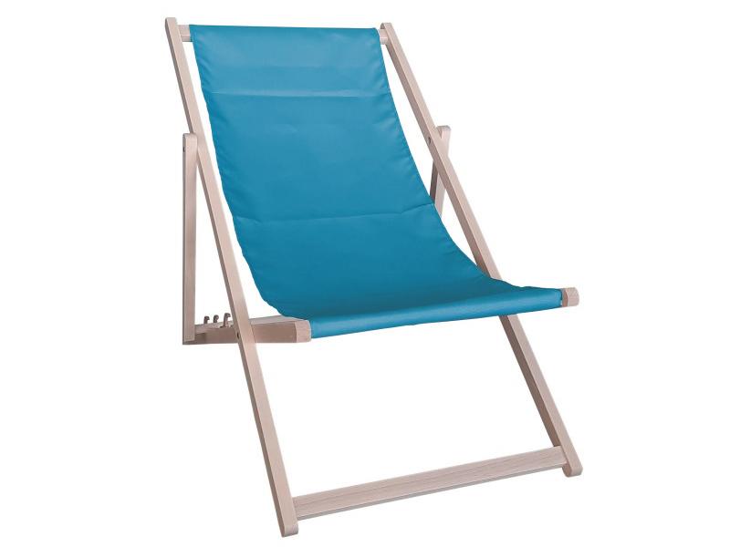 Drewniany leżak, Niebieski Swing Sunbed
