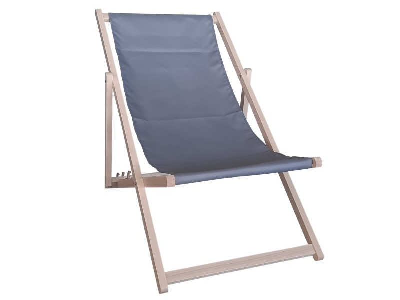 Drewniany leżak, Szary Swing Sunbed