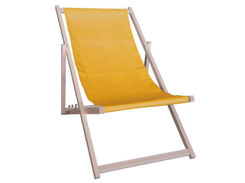 Drewniany leżak, żółty Swing Sunbed