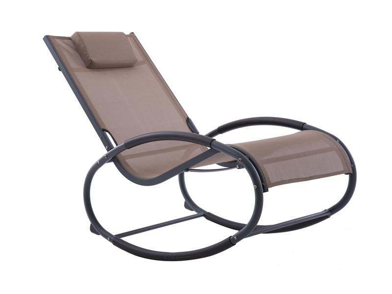 Fotel bujany, Brązowy WAVEROCK1
