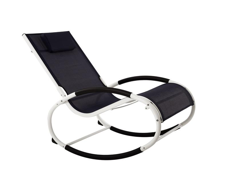 Fotel bujany, Granatowy WAVEROCK1