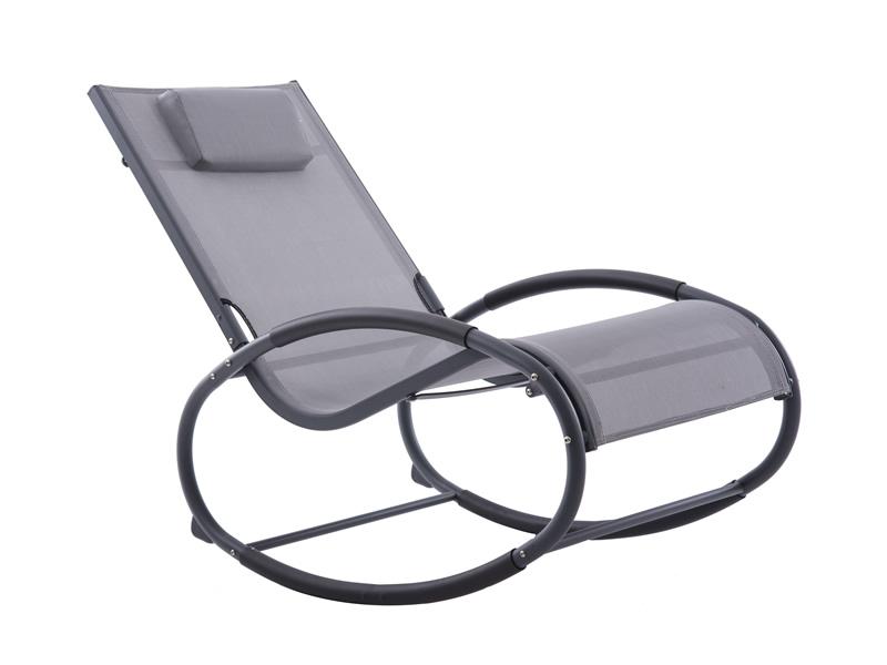 Fotel bujany, szary WAVEROCK1