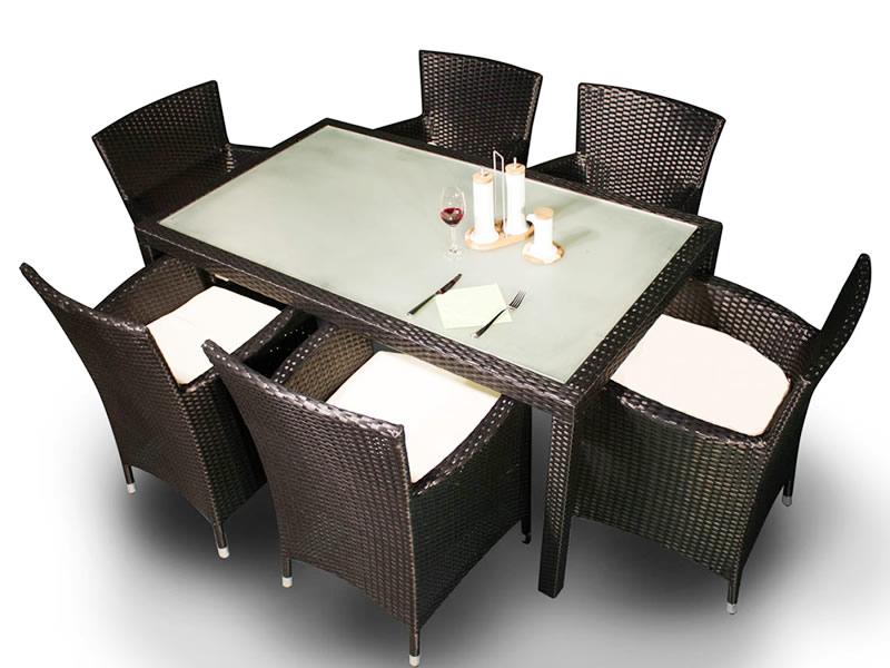 Zestaw mebli stołowych CAPITALE, ciemny brąz MS.001.003