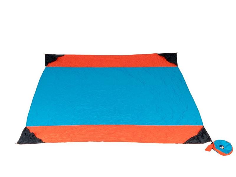 Beach blanket, pomarańczowo-niebieski TMBB