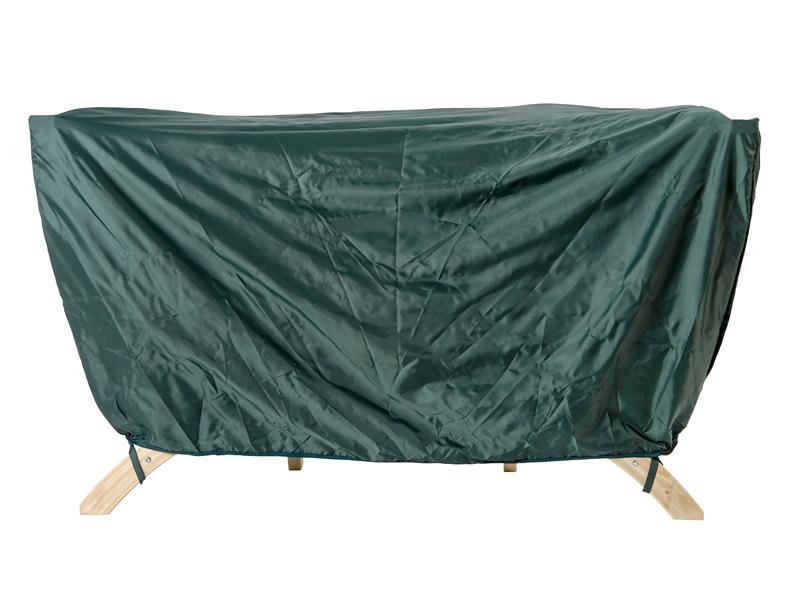 Pokrowiec na dwuosobowy fotel drewniany, Zielony Siena Due Cover