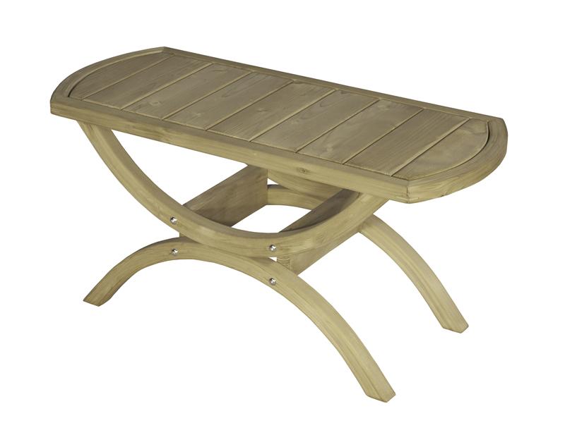 Stolik drewniany, Świerk + bejca w kolorze oliwkowym Tavolino