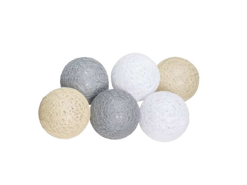 Świecące kule led, kolorowy Cotton Balls 6