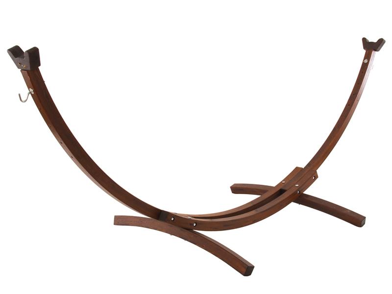 Drewniany stojak hamakowy, Brązowy 10SPAS