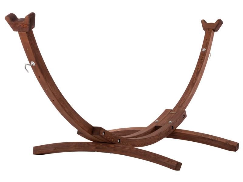 Drewniany stojak hamakowy, Brązowy 8SPAS