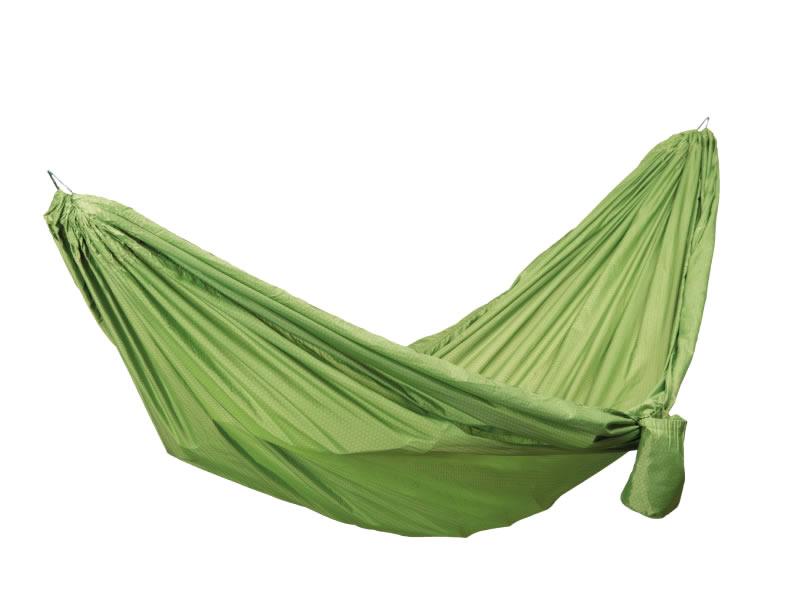 Hamak turystyczny dwuosobowy, zielony Travel Hammock Wide