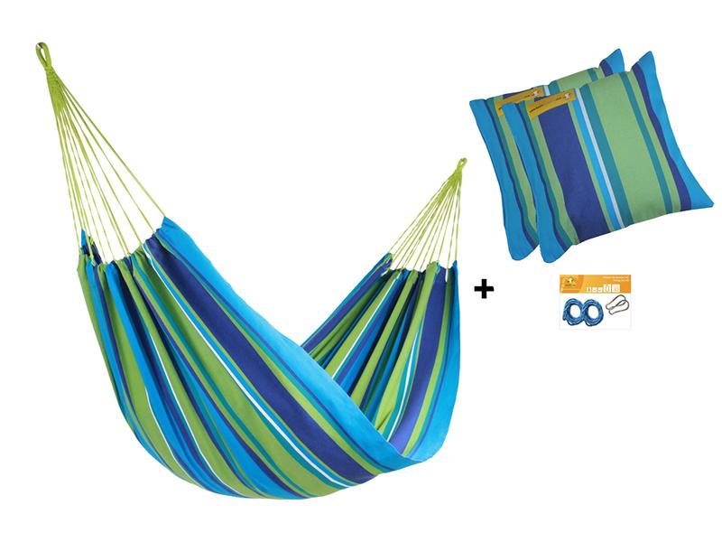 Zestaw hamakowy HW w kolorze 242 z poduszkami i zestawem montażowym