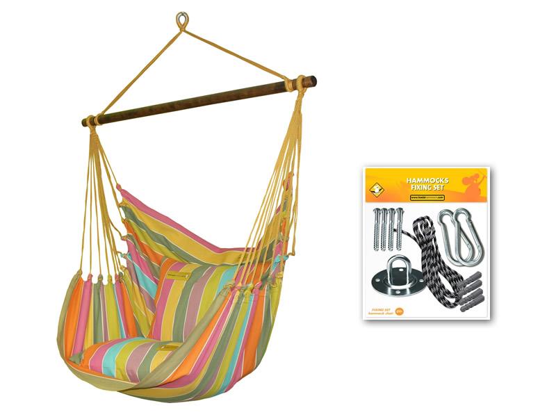 Fotel hamakowy HC10 z zestawem montażowym, zhc10253-koala/fix/ch1
