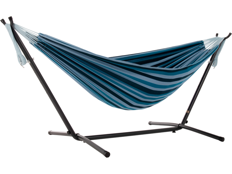 Hamak Combo + stojak metalowy 8f, Niebieski UHSDO8