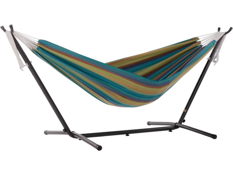 Hamak Sunbrella + stojak metalowy 8f, błękitny C8SUN