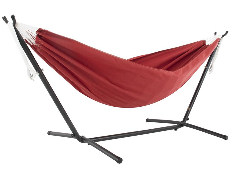 Hamak Sunbrella + stojak metalowy 8f, Czerwony C8SUN
