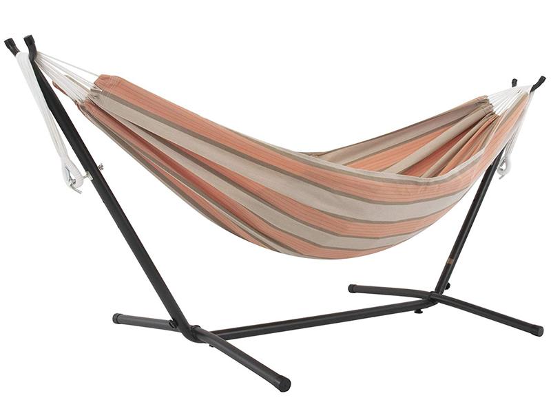 Hamak Sunbrella + stojak metalowy 8f, pomarańczowo-szary C8SUN