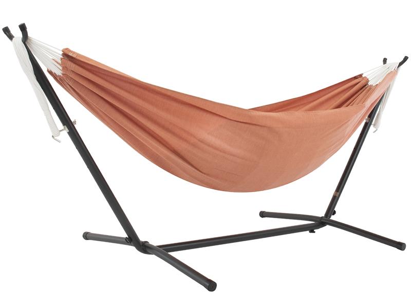 Hamak Sunbrella + stojak metalowy 8f, pomarańczowy C8SUN