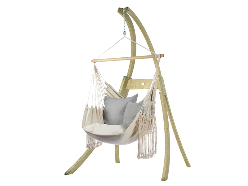 Zestaw hamakowy: fotel HC10-C ze stojakiem drewnianym Atlas, HC10-C-AT