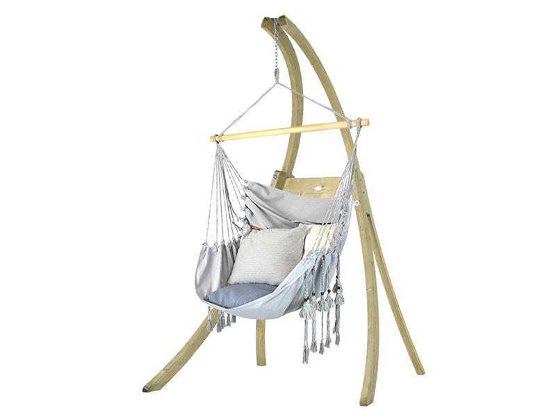 Zestaw hamakowy: fotel HCXL-CT ze stojakiem drewnianym Atlas